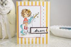 Daydreaming to Create, Dollhouse 'Danika', Copic markers, card,