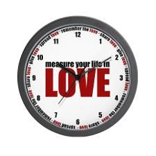 Measure Your Life In Love Wall Clock for   RENT.