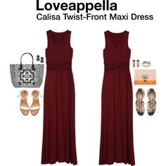 """Calisa Twist-Front Maxi Dress"" by hanger731x on Polyvore"