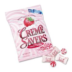 Life Savers Creme Savers Strawberry and Cream Hard Candy, 6oz. Bag, CME08393