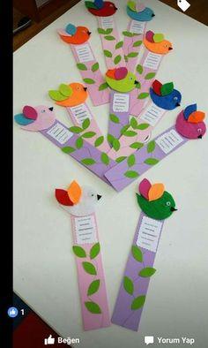 Marcalibros Kids Crafts, Diy Arts And Crafts, Crafts For Teens, Preschool Crafts, Felt Crafts, Paper Crafts, Felt Bookmark, Origami Paper Art, Pinterest Crafts