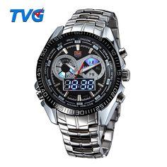e51c7a74e544 Barato Reloj de acero inoxidable de lujo de marca TVG