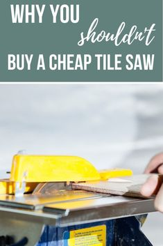 Before you go a make a renovation mistake, learn from ours! Our biggest regret from our bathroom renovation was buying a cheap tile saw, here's why you shouldn't buy a cheap wet tile saw! Kitchen Sink Interior, Cheap Tiles, Small Basin, Modern Modular Homes, Carpet Padding, Tile Saw, Home Upgrades, New Carpet, Next At Home