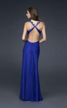royal blue sweetheart sleeveless empire slim a-line floor length ...
