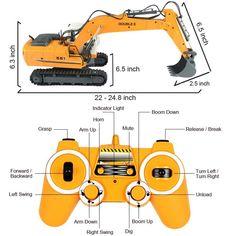 RC Construction Excavator Tractor Digger Radio Remote Control Electric Bulldozer #RCConstructionExcavatorTractor
