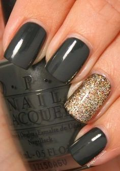 Art nails - love the nail color!! wish I knew what color it was. :)