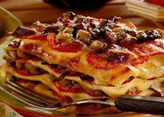 Lasagne with tomatoes recipe http://veu.sk/index.php/chutne-recepty/1704-lasagne-s-paradajkami.html #lasagne #tomatoes #recipe