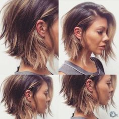 Coupe de cheveux femme beauté Using fingernail gloss is fairly difficult for some women. Edgy Bob Haircuts, Wavy Bob Hairstyles, Cool Haircuts, Woman Hairstyles, Popular Hairstyles, Wedding Hairstyles, Wavy Hair, New Hair, Thick Hair