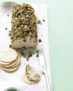Pistachio-Covered Cheese Log Recipe