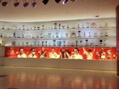 The Trophy room at the Ferrari Museum, Maranello Italy