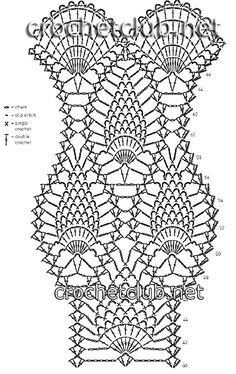 платье крючком от rosetta getty-схема 2