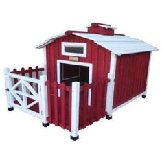 On the sixth day of Christmas... The Advantek™ Country Barn Doghouse is the sturdy, comfortable, spacious palace your pooch deserves. A serious step up from cheap, ready-made doghouses, the Country Barn Doghouse boasts naturally insulating fir construction and oodles of space indoors and out, so your four-legged friend can hang out wherever he chooses.