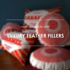 Nikki McWilliams biscuit cushions- now available with feather fillers!