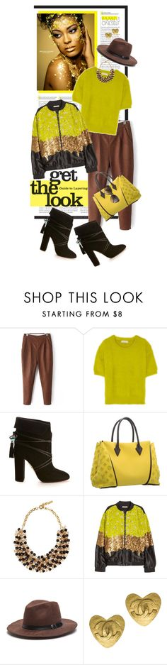 """""""Get the Look..Brown and Yellow"""" by shortyluv718 ❤ liked on Polyvore featuring MICHAEL Michael Kors, Aquazzura, Louis Vuitton, Etro, Chanel, Victoria Beckham, women's clothing, women's fashion, women and female"""