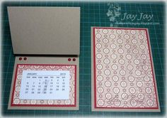 Calendar Card tutorial - bjl