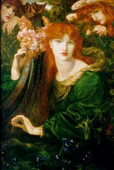 La Ghirlandata  Dante Gabriel Rossetti  1873