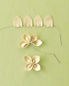 DIY Felt Flower Tutorial - Martha Stewart