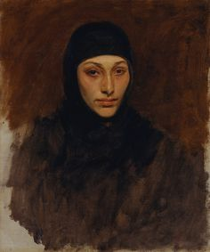 John Singer Sargent - Egyptian Woman [1890-91] | [Metropolitan Museum of Art, New York - Oil on canvas, 64.8 x 53.3 cm]
