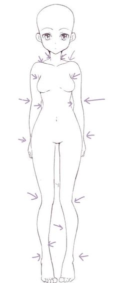 Body of Anime girl Body Drawing, Manga Drawing, Manga Art, Anime Art, Drawing Girls, Art Sketches, Art Drawings, Manga Tutorial, Anatomy Tutorial