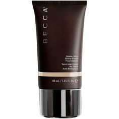Becca Ever Matte Shine Proof Foundation (€38) ❤ liked on Polyvore featuring beauty products, makeup, face makeup, foundation, shell, creamy foundation, becca foundation, long wear foundation and long wearing foundation