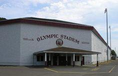 Olympic Stadium, Hoquiam, WA. Abandoned stadium in a small town
