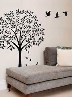 Vinyl Wall Art Decal -- Autumn Tree Decals