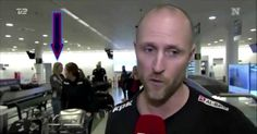 News Crew Interviews Guy At Airport, Didn't See What It Caught Behind Him
