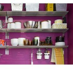 Ikea Grundtal Stainless Steel 47 1/4 Long Kitchen Shelf Rail And 10 S Hooks