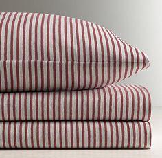 Vintage-Washed Stripe Jersey Sheet Set