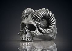 ring skull horned demon stl obj model for printing model obj stl 1 Skull Jewelry, Gothic Jewelry, Jewelry Rings, Jewlery, Jewelry Casting, Man Jewelry, Skull Rings, Crane, Biker Rings