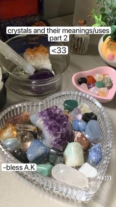 Crystal Meanings, Crystals And Their Meanings, Crystal Healing Stones, Crystal Uses, Crystals And Gemstones, Stones And Crystals, Crystal Room, Wiccan Spell Book, Charge Crystals