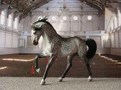 2011.Custom painted CollectA model horse. Name: Morning Frost. Custom by Zane Lahdenranta ( Frosty Birch Studio)