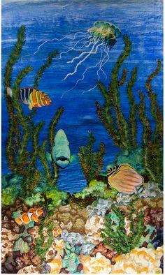 """Reef Cruisin"" by Phyllis Binkley as seen at Textures Fiber Arts"