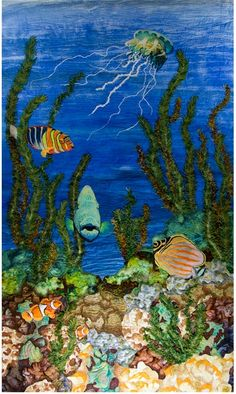 """Reef Cruisin"" by Phyllis Binkley as seen at Textures Fiber Arts"