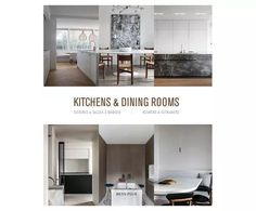 Libro Kitchens And Dining Rooms | Westwing Kitchen Dining, Kitchen Cabinets, Dining Room, Home Decor, Decoration Home, Room Decor, Cabinets, Home Interior Design, Dining Rooms