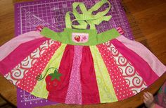 tutorial: kids patchwork apron dress. * this is the tutorial I used to make Emily's Strawberry Shortcake Halloween costume (pictured)