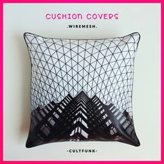 """SO RAD! www.cultfunk.com . Add a dash of beautiful ART to your homes ❤ . Rs. 1,295/- [18""""×18""""] . #cultfunk #cushioncover . #artwork #cushion #homedecor #stylishhomes #cushioncovers #arte #home #decor #funky #furnishings #instaart #wiremesh #building #monochrome #styleblogger #stylish #style #picoftheday #instagood #love #giftideas #shoppingonline #vegan #brand"""