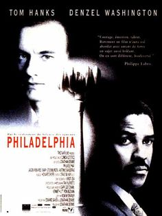 Philadelphia est un film de Jonathan Demme avec Tom Hanks, Denzel Washington. Denzel Washington, Tom Hanks, Films Cinema, Cinema Posters, Movie Posters, Movies And Series, Movies And Tv Shows, Film Movie, Books