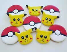 Pokemon cookies Pokemon, Cookies, Halloween, Desserts, Food, Crack Crackers, Tailgate Desserts, Deserts, Biscuits