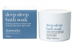 Thisworks deep sleep bath soak thisworks deep sleep bath soak An award-winning fragrance that contains soothing Lavender and Vetivert salts to help you get a good nights sleep. MODERN: Enjoy a moment of peace and tranquillity at th http://www.MightGet.com/january-2017-12/thisworks-deep-sleep-bath-soak.asp