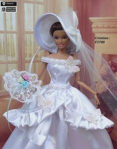 Robe Barbie mariée N°25 Vêtement pour poupée Barbie Silkstone Fashion Royalty Muse f3788