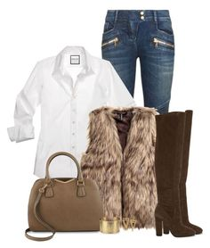 """""""Faux fur vest"""" by jennsprettylittlefriend ❤ liked on Polyvore featuring Balmain, ALDO, Calvin Klein and Blue Nile"""