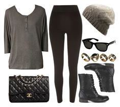 """Style #9238"" by vany-alvarado ❤ liked on Polyvore featuring Steve Madden, River Island, Chanel, AllSaints, ALDO and Ray-Ban"