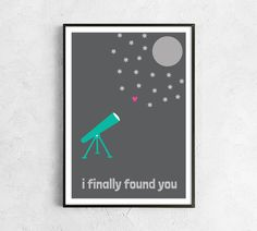 Valentines printable digital love valentines for him I find you boyfriend girlfriend love you moon stars teal pink black grey telescope