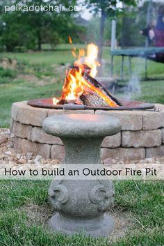 DIY Stone Fire Pit #firepit #diy #stone #backyard