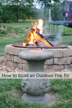 DIY Stone Fire Pit  Ideas for Fire PIt Seating