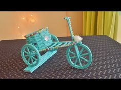 How To Make Newspaper Cycle Decorative Piece Rangoli Borders, Rangoli Border Designs, Cycle Stand, Craft From Waste Material, Straw Crafts, Pose, Ganesha Painting, Crafts For Kids, Diy Crafts