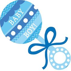 The Baby Boy Rattle Cutout is a sweet way to decorate for your baby shower. This plastic baby rattle cutout is blue and reads 'Baby Boy! Juegos Baby Shower Niño, Dibujos Baby Shower, Imprimibles Baby Shower, Baby Shower Decorations For Boys, Baby Shower Themes, Baby Boy Shower, Baby Boy Banner, Moldes Para Baby Shower, Baby Boys