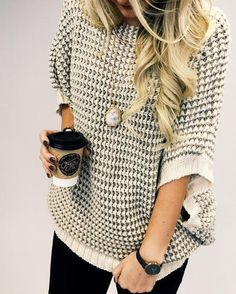 Love the relaxed look with this sweater