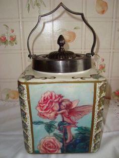 Brathwaites Fairy Lustre Ware Cumbria Ceramic Biscuit Jar